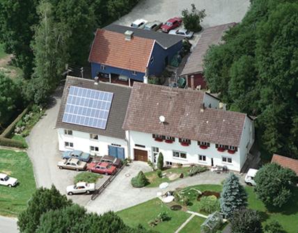 Luftaufnahme Hof Autoteile-Glauner